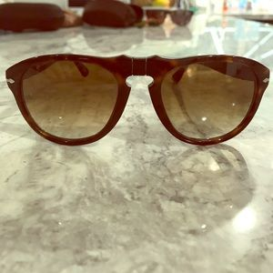 Persol 649 Original Aviator Sunglasses (Havana)